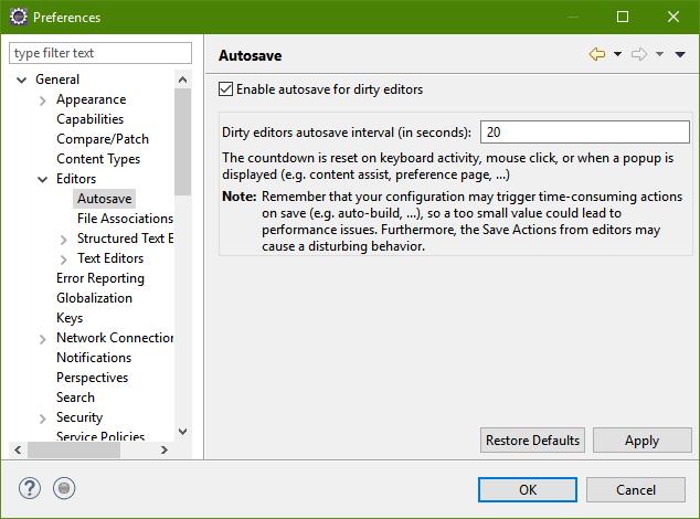 Editeur-Autosave