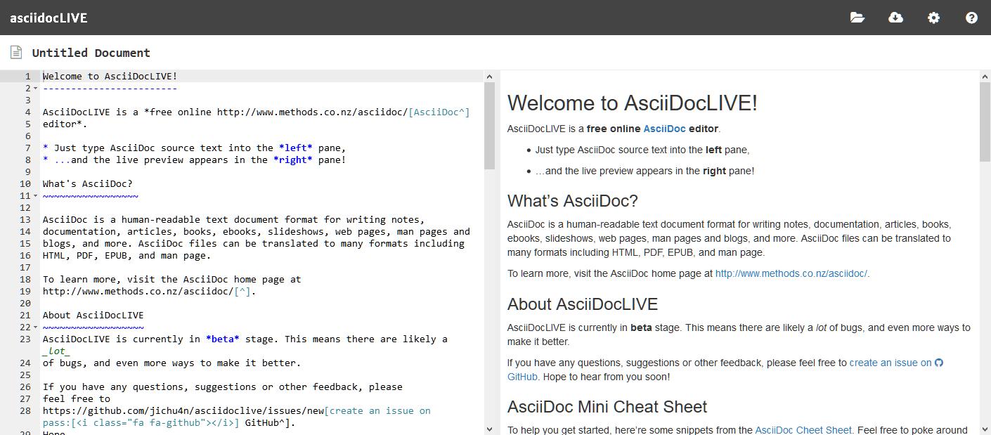 asciidocLive